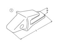 Adaptér typu Komatsu E 486