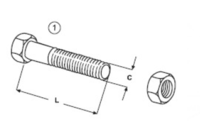 Šroub + matice E 603 B + N