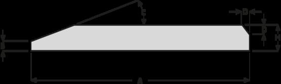 Ocelové pásy s jednostranným úkosem HB400