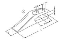 Vidlicový zub typu BOBCAT E 11.1
