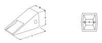 Krátká korunka typu CATERPILLAR E 354 C