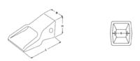 Otěruvzdorné HD korunky typu CATERPILLAR E 353 HDA