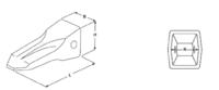 Penetrační plus korunky typu CATERPILLAR E 353 PR