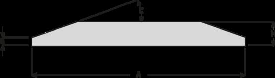 Ocelové pásy s oboustranným úkosem HB400
