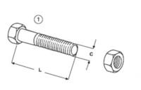 Šroub + matice E 600.1 B + E 600 N