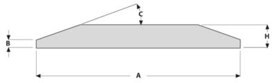 Břit s oboustranným úkosem 152x16 mm