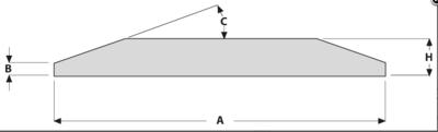 Břit s oboustranným úkosem 254x20 mm