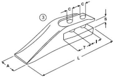 Vidlicový zub E 11.7