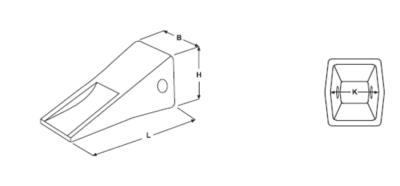 Dlouhá korunka typu CATERPILLAR E 355