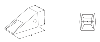 Krátká korunka typu CATERPILLAR E 352 C