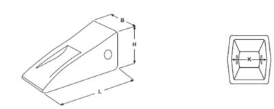 Korunka typu CATERPILLAR E 354 HDL