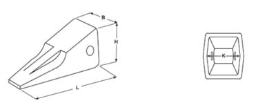 Penetrační korunky typu CATERPILLAR E 353 S