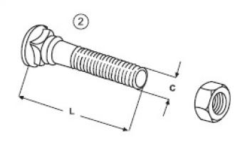 Šrouby a matice E 620.1 B + E 620 N