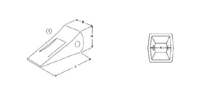 Korunka typu Komatsu E 495