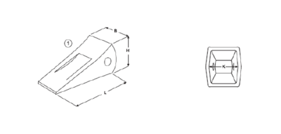 Korunka typu Komatsu E 496