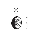 Zajišťovací kroužek typu CATERPILAR E 380
